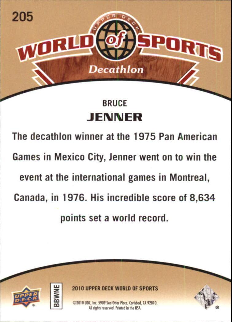 2010 Upper Deck World of Sports #205 Bruce Jenner back image