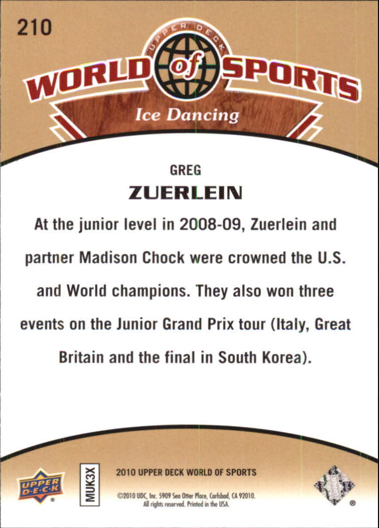 2010 Upper Deck World of Sports #210 Greg Zuerlein back image