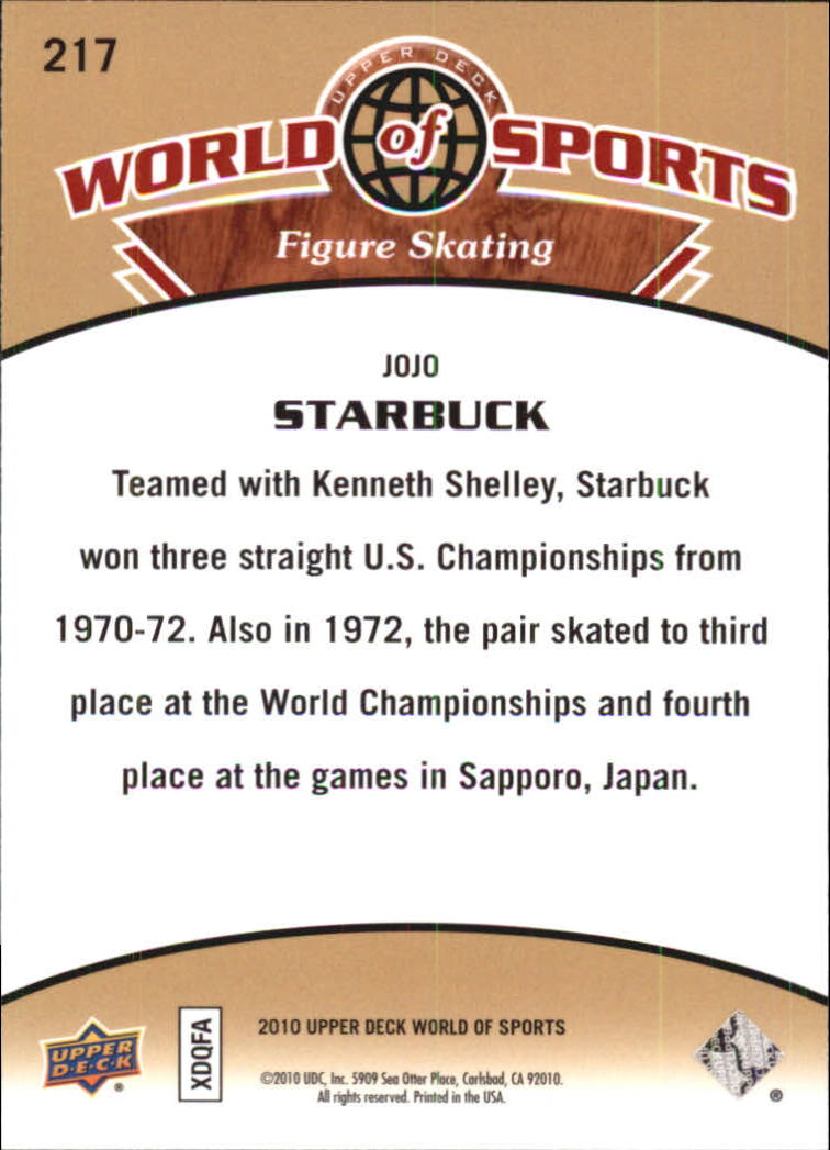 2010 Upper Deck World of Sports #217 Jojo Starbuck back image