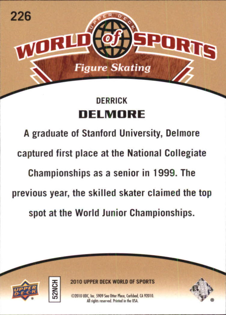 2010 Upper Deck World of Sports #226 Derrick Delmore back image