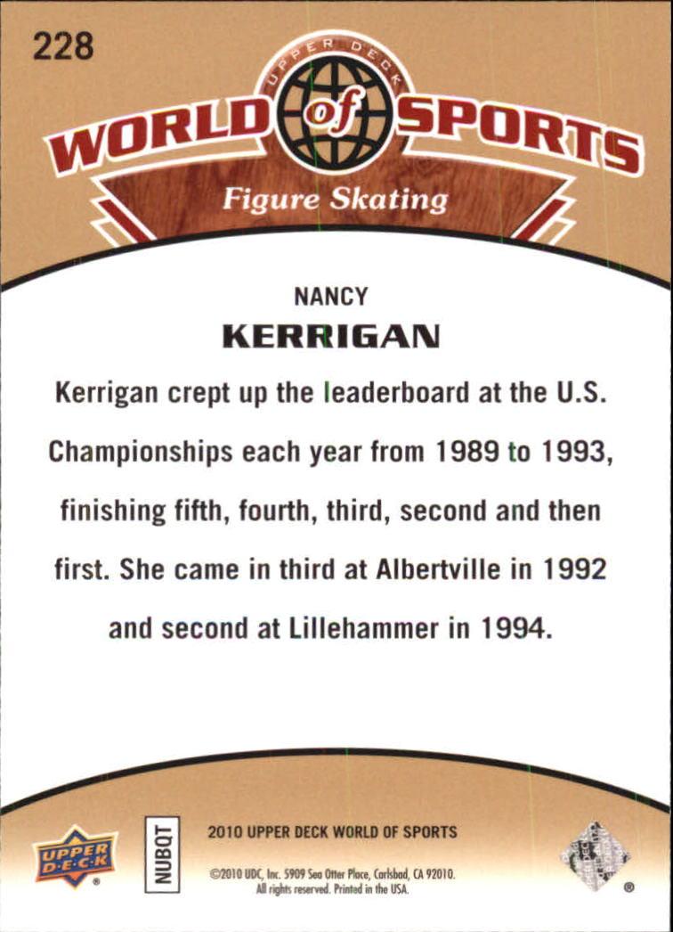 2010 Upper Deck World of Sports #228 Nancy Kerrigan back image