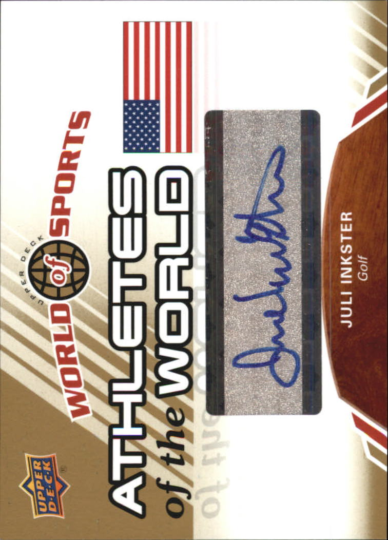 2010 Upper Deck World of Sports Athletes of the World Autographs #AW39 Juli Inkster