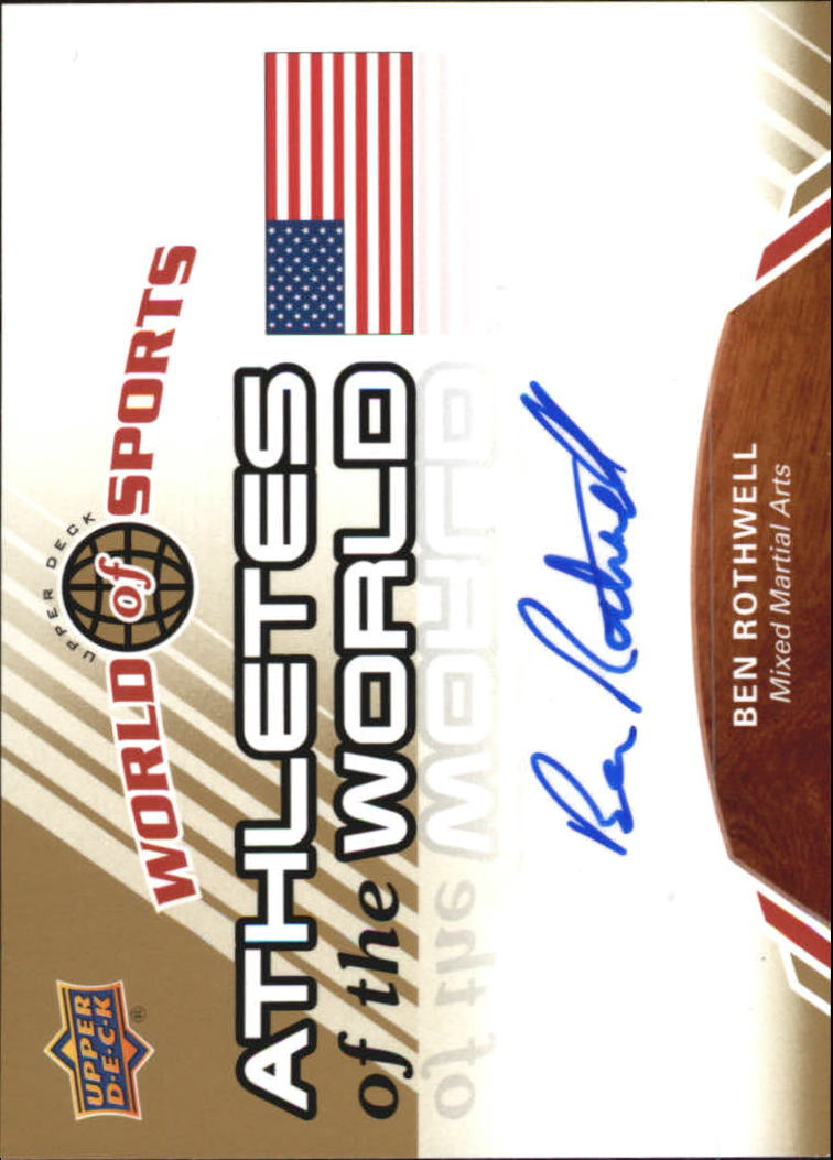 2010 Upper Deck World of Sports Athletes of the World Autographs #AW55 Ben Rothwell