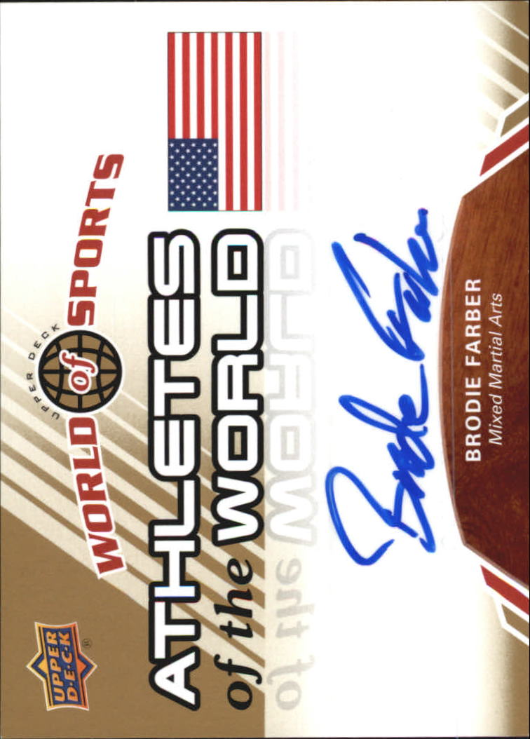 2010 Upper Deck World of Sports Athletes of the World Autographs #AW58 Brodie Farber