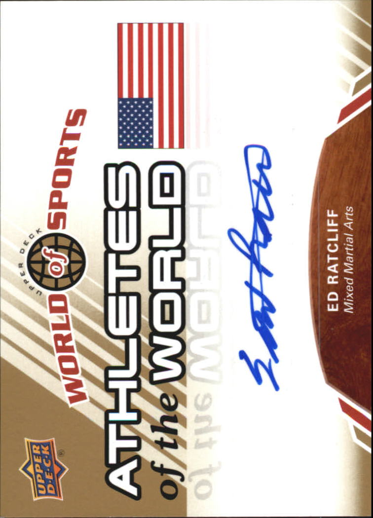 2010 Upper Deck World of Sports Athletes of the World Autographs #AW65 Ed Ratcliff