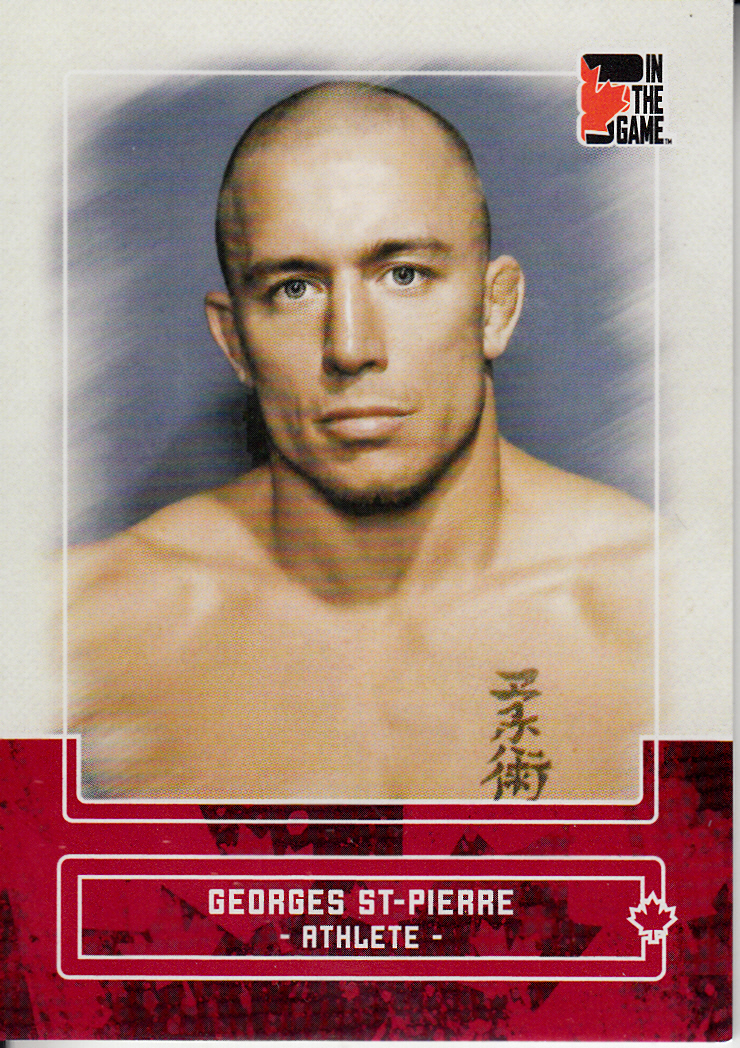 2011 In The Game Canadiana Red #31 Georges St-Pierre