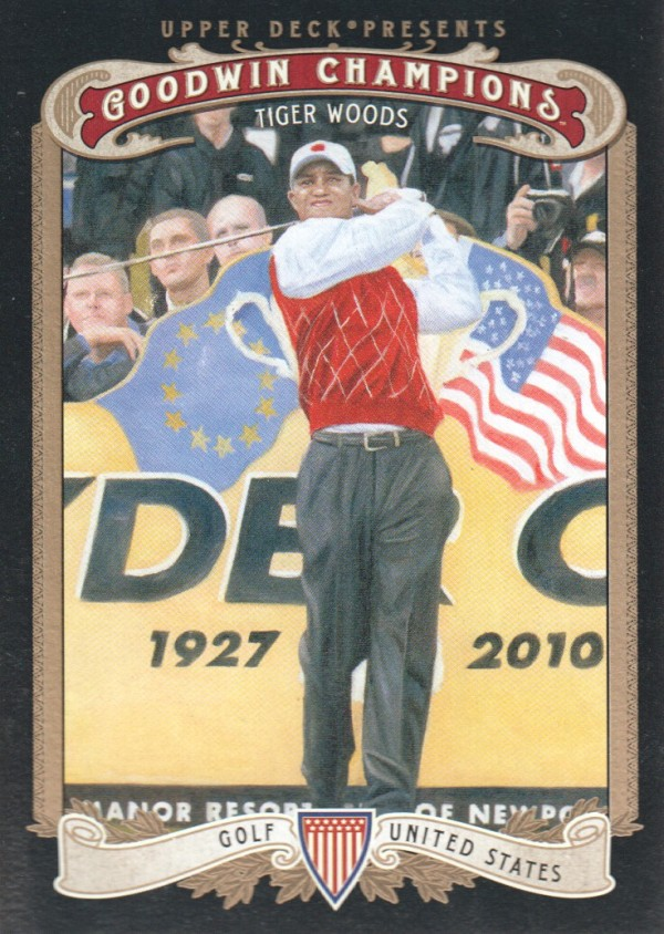 2012 Upper Deck Goodwin Champions #100 Tiger Woods