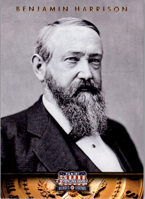 2012 Americana Heroes and Legends #23 Benjamin Harrison