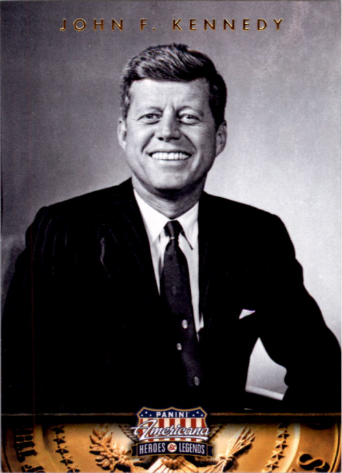 2012 Americana Heroes and Legends #35 John F. Kennedy