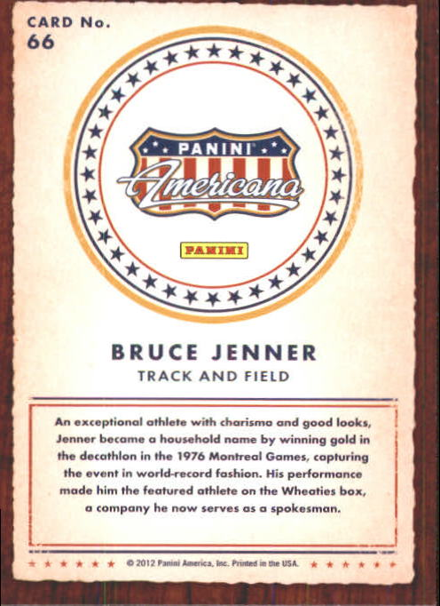 2012 Americana Heroes and Legends #66 Bruce Jenner back image