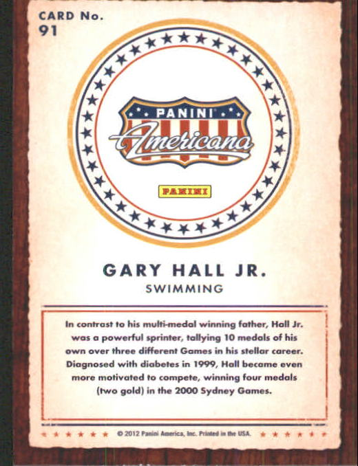 2012 Americana Heroes and Legends #91 Gary Hall Jr. back image