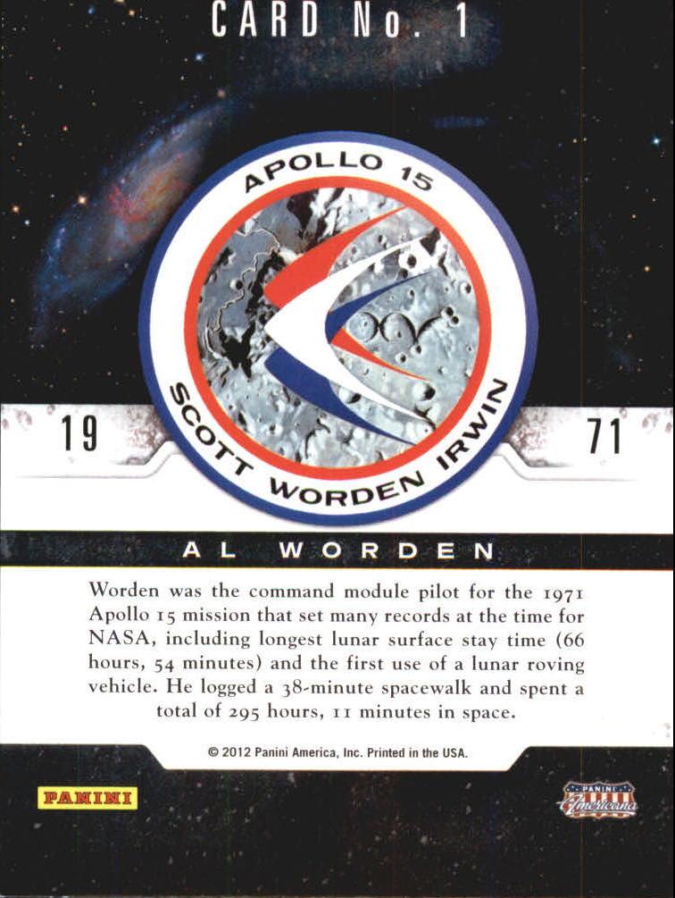 2012 Panini Americana Heroes /& Legends Astronauts #1 Al Worden NASA Card