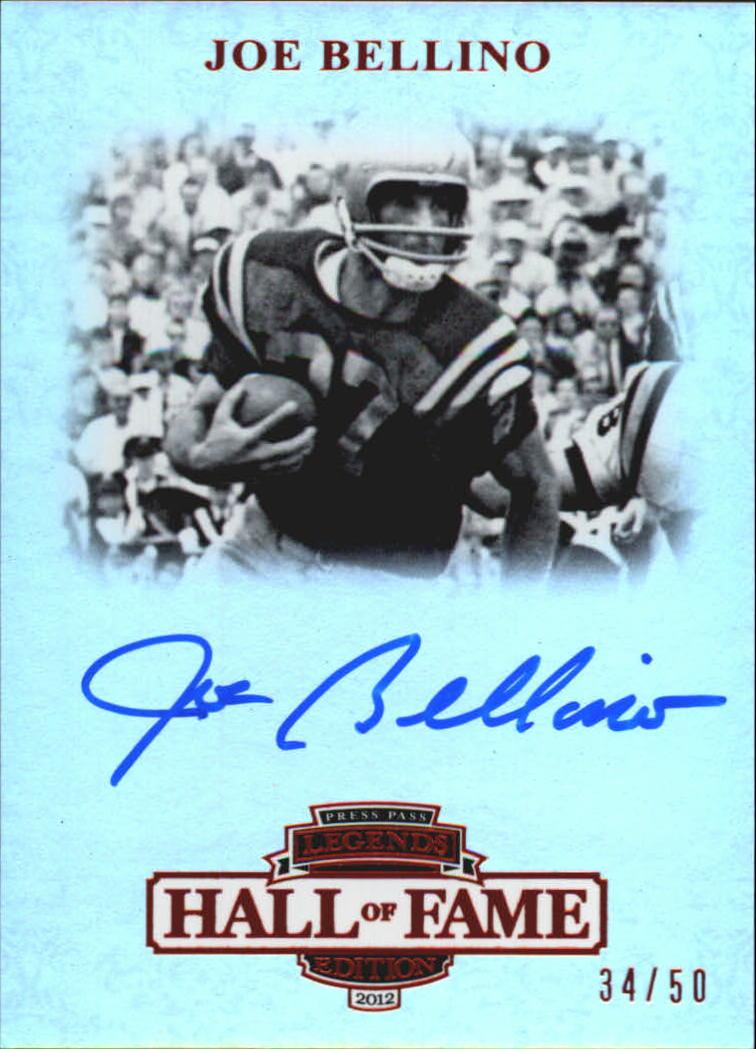 2012 Press Pass Legends Hall of Fame Red #LGJB Joe Bellino/50