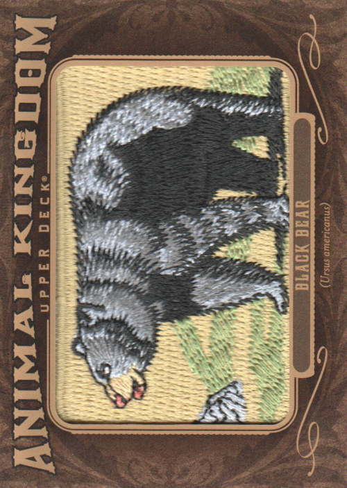 2013 Upper Deck Goodwin Champions Animal Kingdom Patches #AK213 Black Bear LC