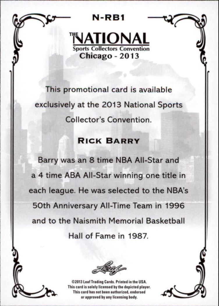 2013 Leaf National Convention #NRB1 Rick Barry back image