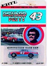 1981 Ertl Superstock 1:64 #43 R.Petty/STP '80 Chevy blue above/and below red stripe on sides