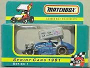 1991 Matchbox Sprint Cars 1:55 #1A B.Allen/Blue