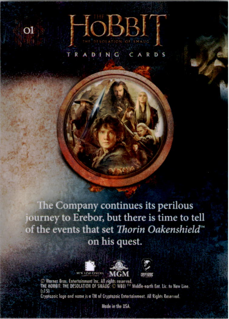 2015-The-Hobbit-Desolation-of-Smaug-Base-Set-Trading-Cards-Pick-From-List miniature 3