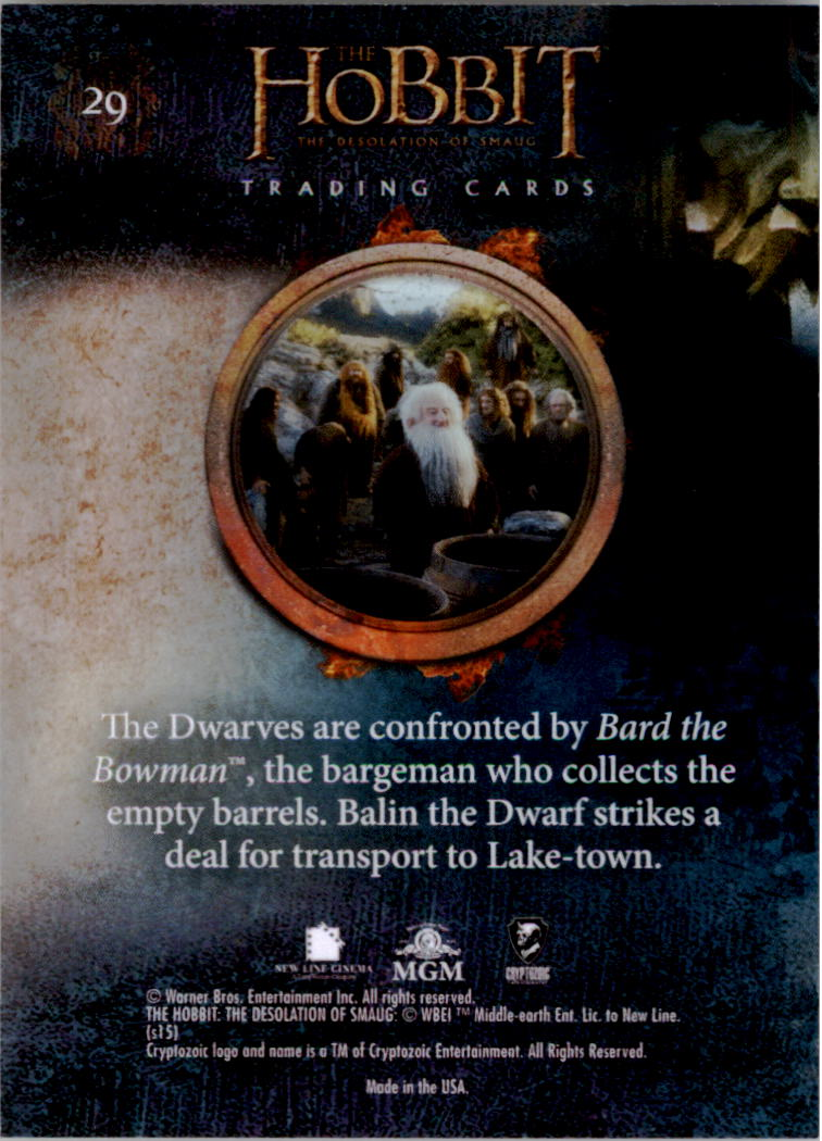 2015-The-Hobbit-Desolation-of-Smaug-Base-Set-Trading-Cards-Pick-From-List miniature 59
