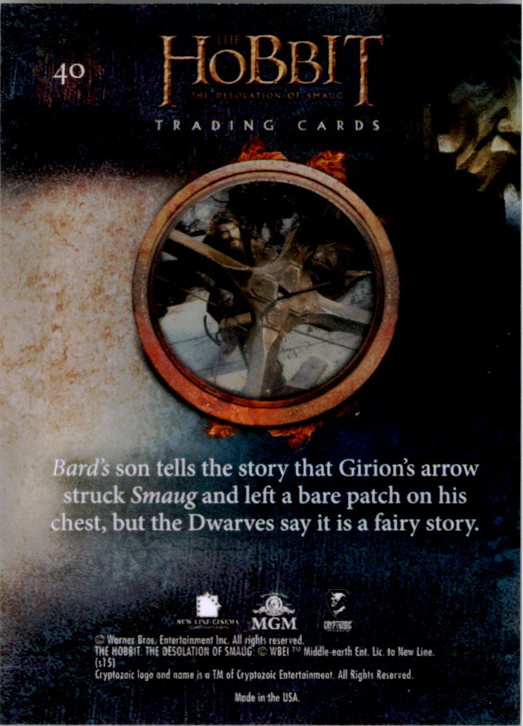 2015-The-Hobbit-Desolation-of-Smaug-Base-Set-Trading-Cards-Pick-From-List miniature 81