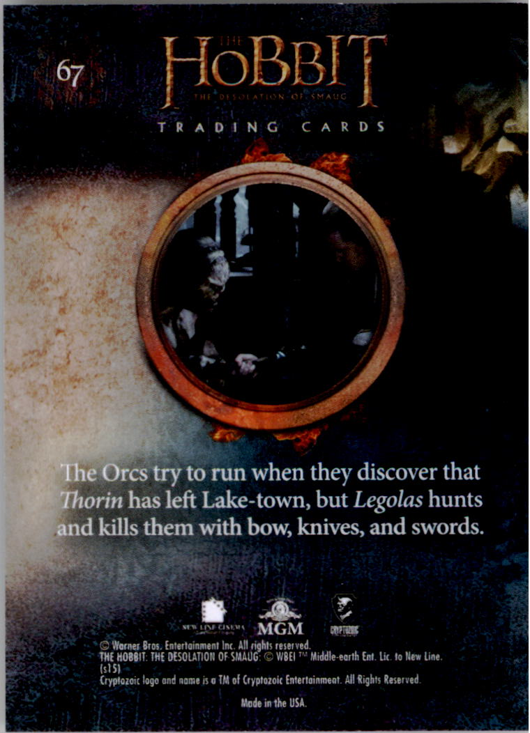 2015-The-Hobbit-Desolation-of-Smaug-Base-Set-Trading-Cards-Pick-From-List miniature 133