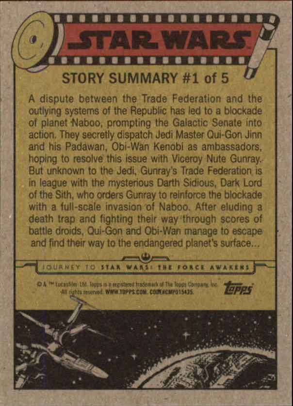 2015-Star-Wars-Journey-to-The-Force-Awakens-Trading-Card-Pick miniature 3