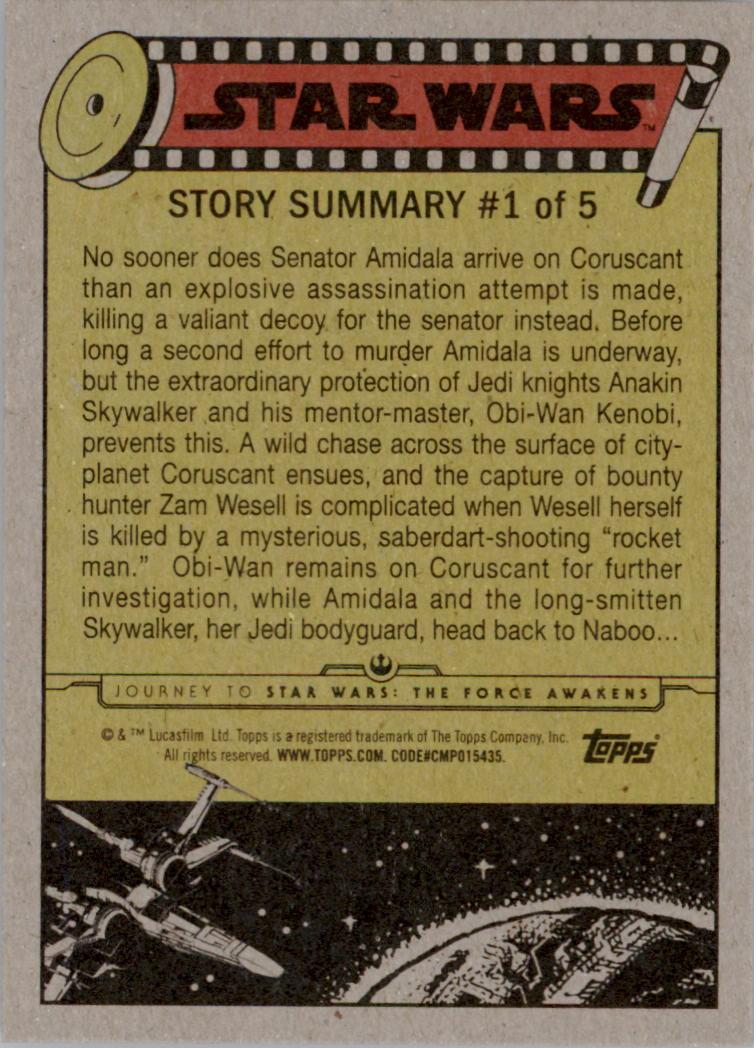 2015-Star-Wars-Journey-to-The-Force-Awakens-Trading-Card-Pick miniature 13