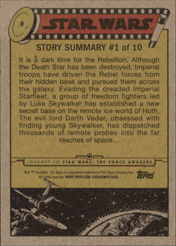 2015-Star-Wars-Journey-to-The-Force-Awakens-Trading-Card-Pick miniature 81