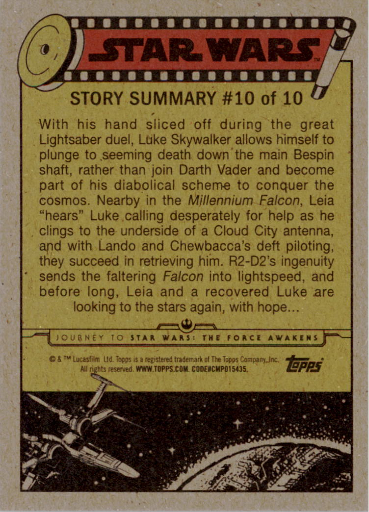 2015-Star-Wars-Journey-to-The-Force-Awakens-Trading-Card-Pick miniature 99