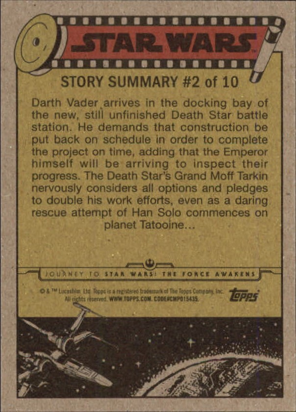 2015-Star-Wars-Journey-to-The-Force-Awakens-Trading-Card-Pick miniature 121