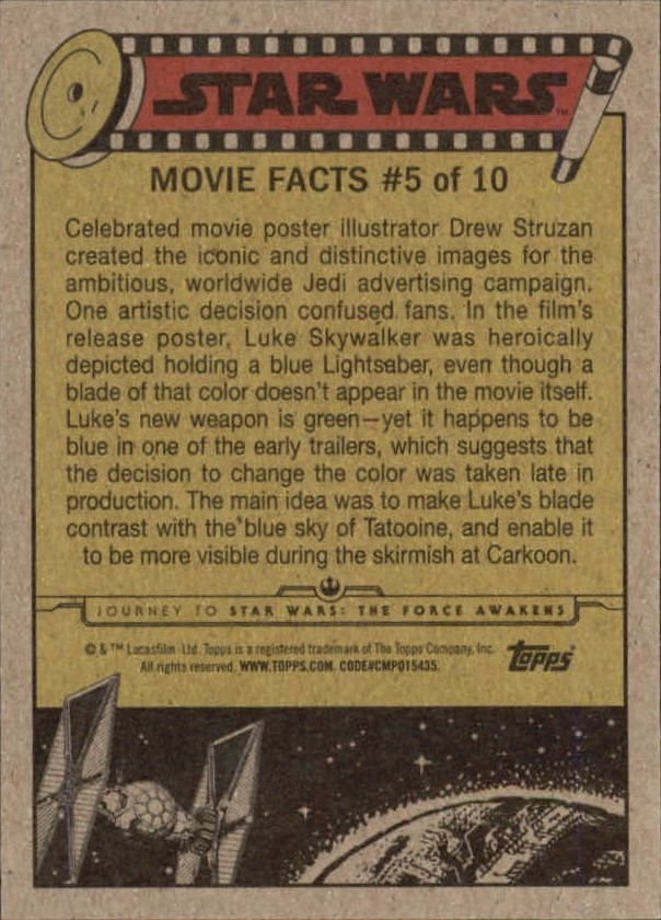 2015-Star-Wars-Journey-to-The-Force-Awakens-Trading-Card-Pick miniature 147