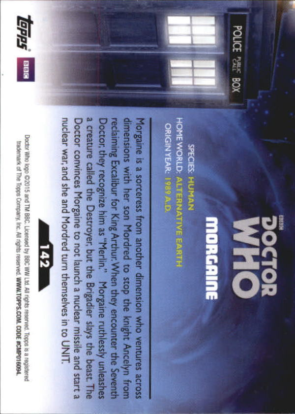 Doctor Who 2015 Base Card #142 Morgaine