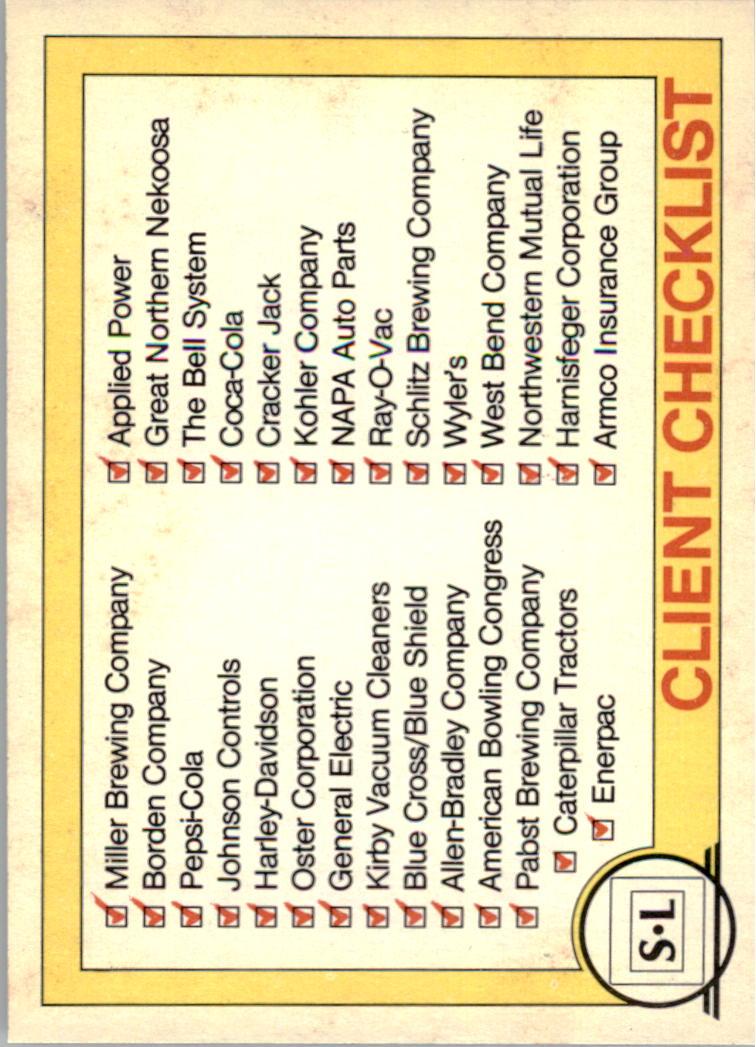 1982 Big Shew Complete Series #7 Client Checklist
