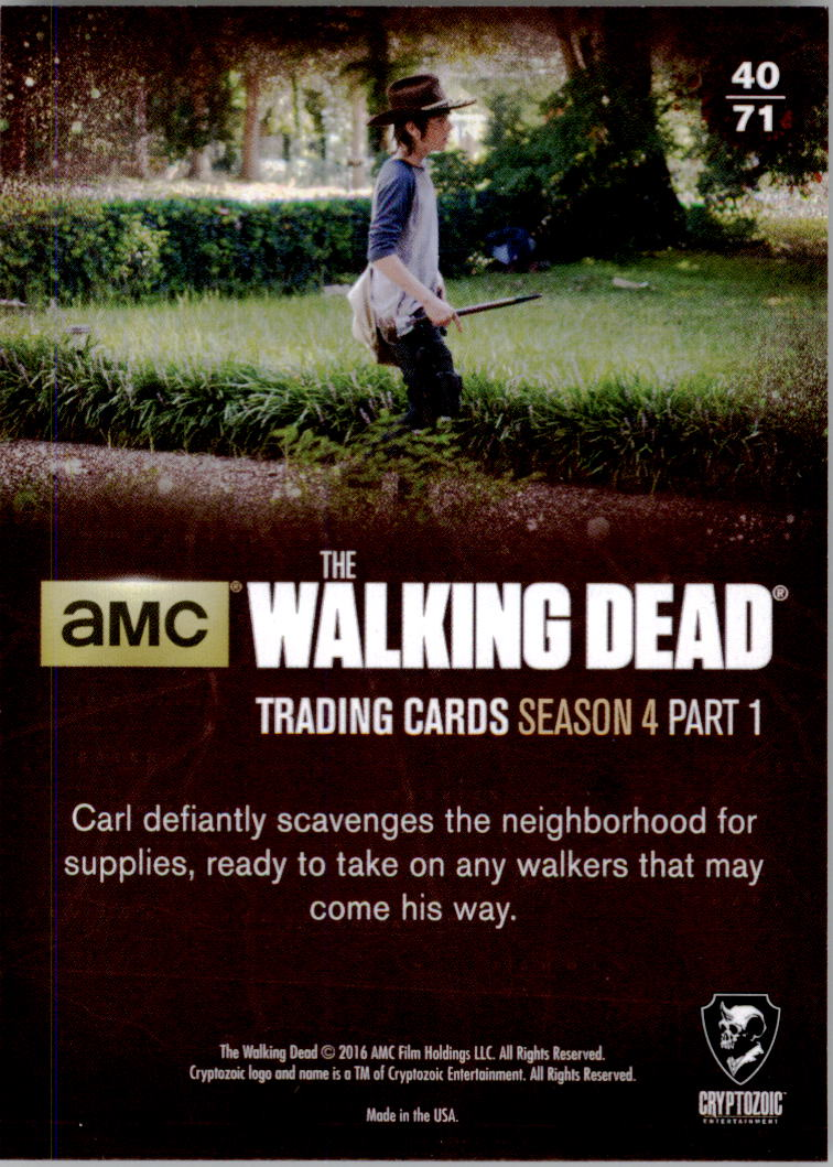 2016 The Walking Dead Season Four Part 1 #40 Searching the Neighborhood back image