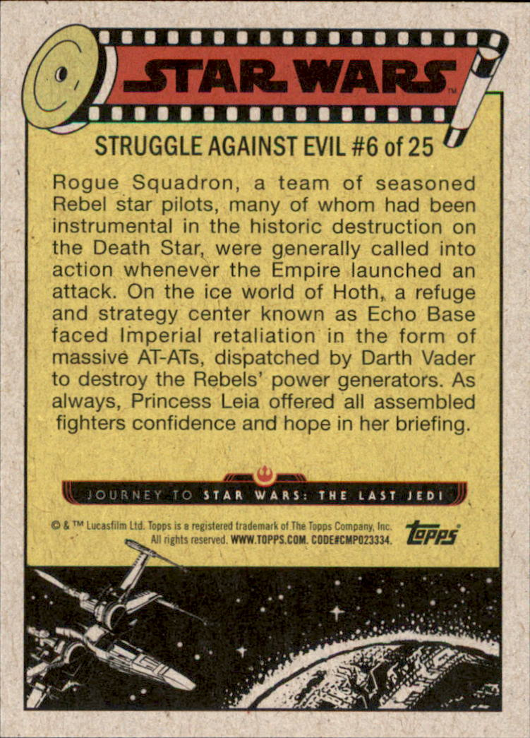2017 Star Wars Journey to The Last Jedi #31 Briefing Rogue Squadron back image