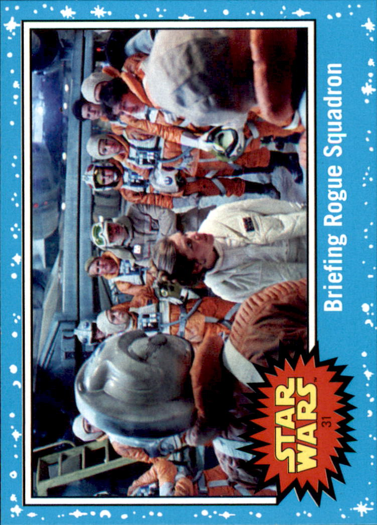 2017 Star Wars Journey to The Last Jedi #31 Briefing Rogue Squadron
