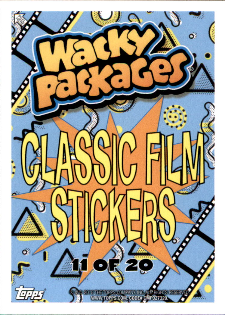 2018 Wacky Packages Go to the Movies Classic Film #11 The Dork