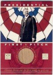2002 Topps American Pie First Pitch Seat Relics #HH Herbert Hoover
