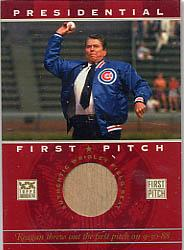 2002 Topps American Pie First Pitch Seat Relics #RR Ronald Reagan