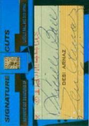 2004 Topps Tribute HOF Signature Cuts Personalities Dual #BA Lucille Ball/Desi Arnaz
