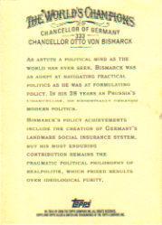 2006 Topps Allen and Ginter #333 Chancellor Otto Von Bismarck back image