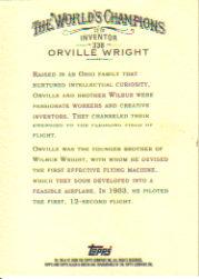2006 Topps Allen and Ginter #338 Orville Wright back image