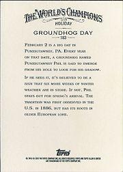2007 Topps Allen and Ginter #183 Groundhog Day back image