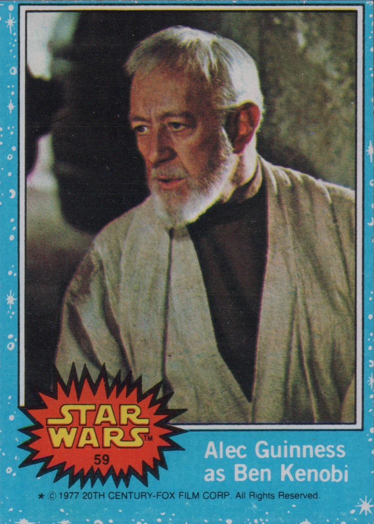 1977 Star Wars #59 Alec Guinness as Ben Kenobi