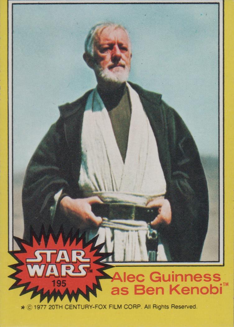 1977 Star Wars #195 Alec Guinness as Ben Kenobi