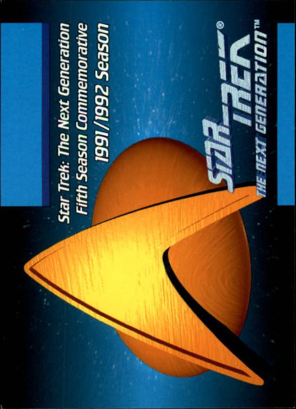 1992 Star Trek The Next Generation #2 Fifth Season Commemorative