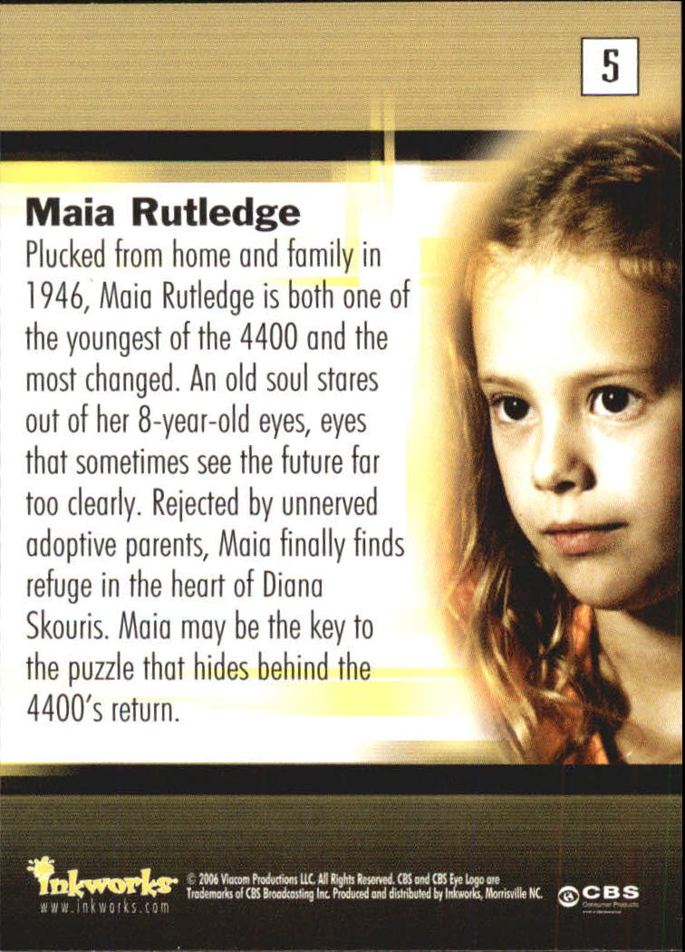 Details about 2006 The 4400 Season One #5 Maia Rutledge