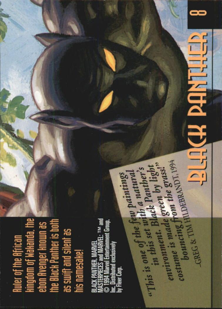 1994 Marvel Masterpieces #8 Black Panther back image