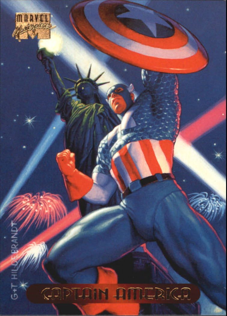 1994 Marvel Masterpieces #18 Captain America