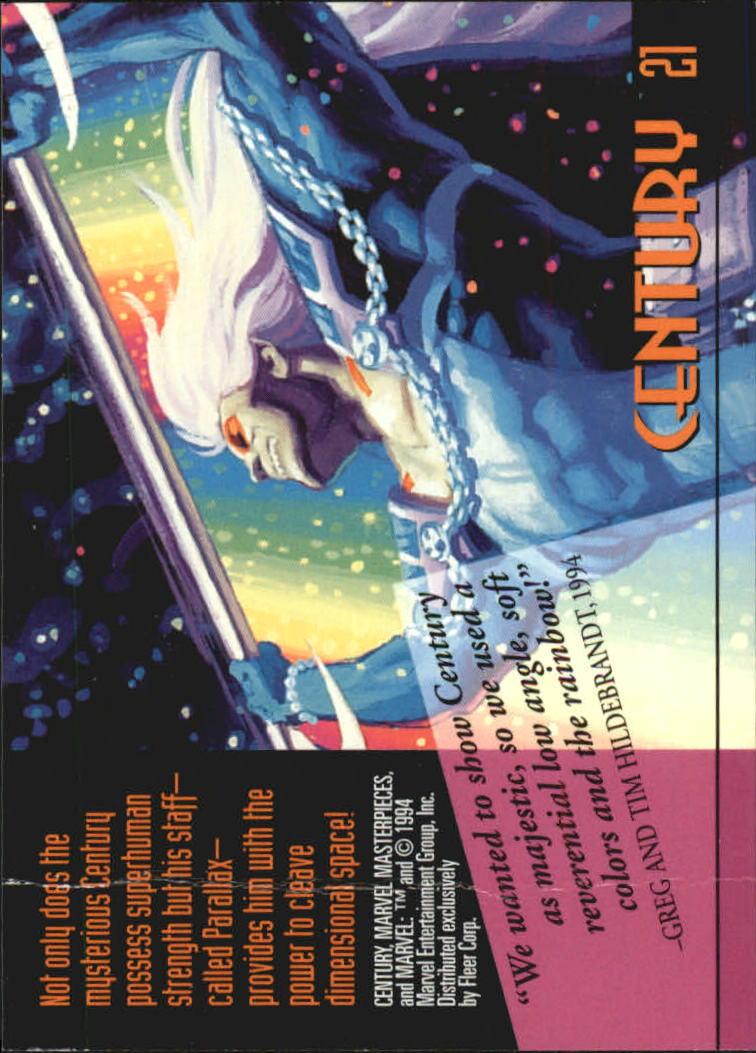 1994 Marvel Masterpieces #21 Century back image